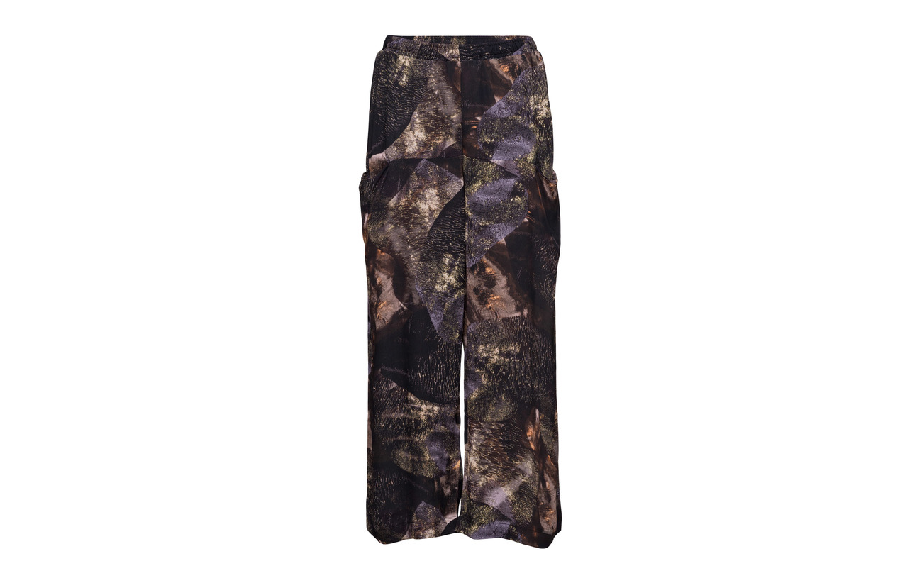 Diana Brown Viscose Pocket 100 Trousers Orving Print wqpwfzT