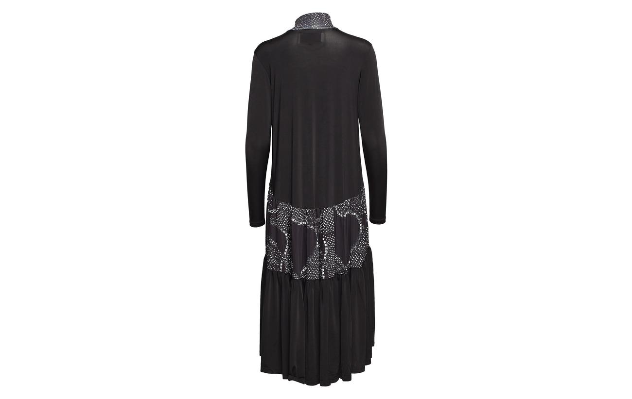 Orving Ruffle Dress Diana 100 Print Polyester Long HaCSq