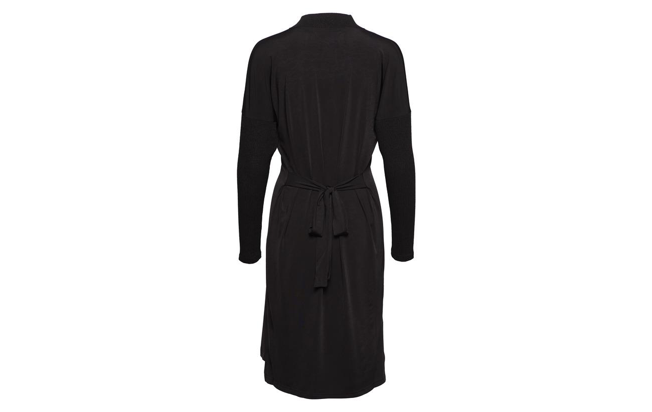 Diana neck 4 96 Dress Black Orving V Elastane Polyester rHgUqwrREn