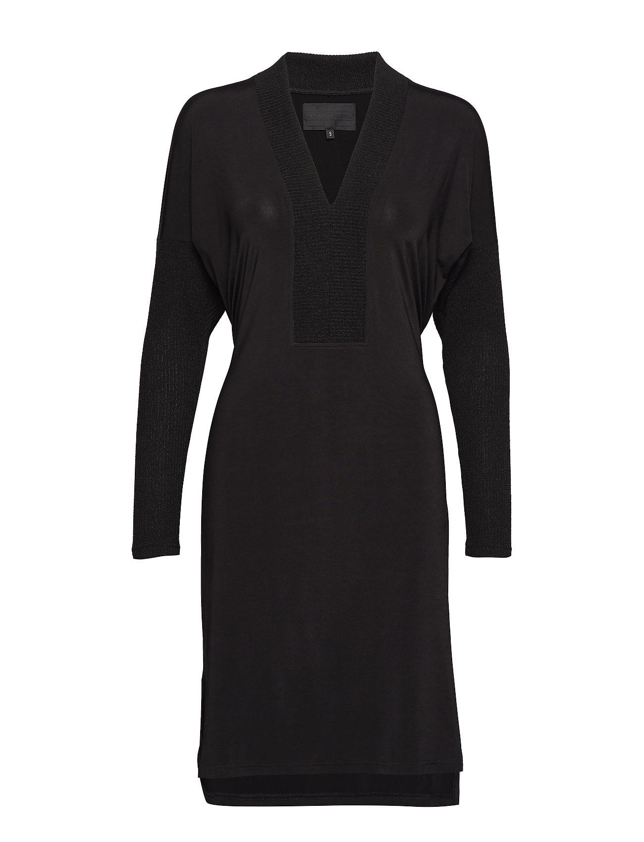 Diana Orving V-neck dress - BLACK