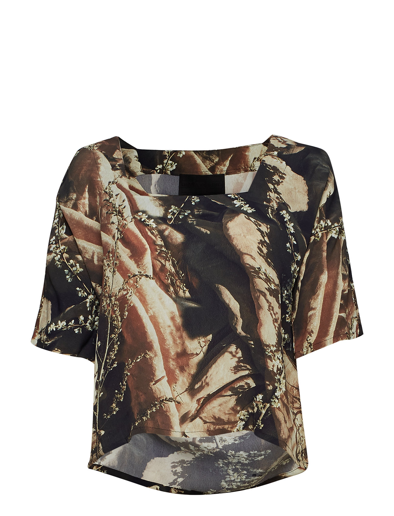 Diana Orving Square Neck Top - FLOWERS