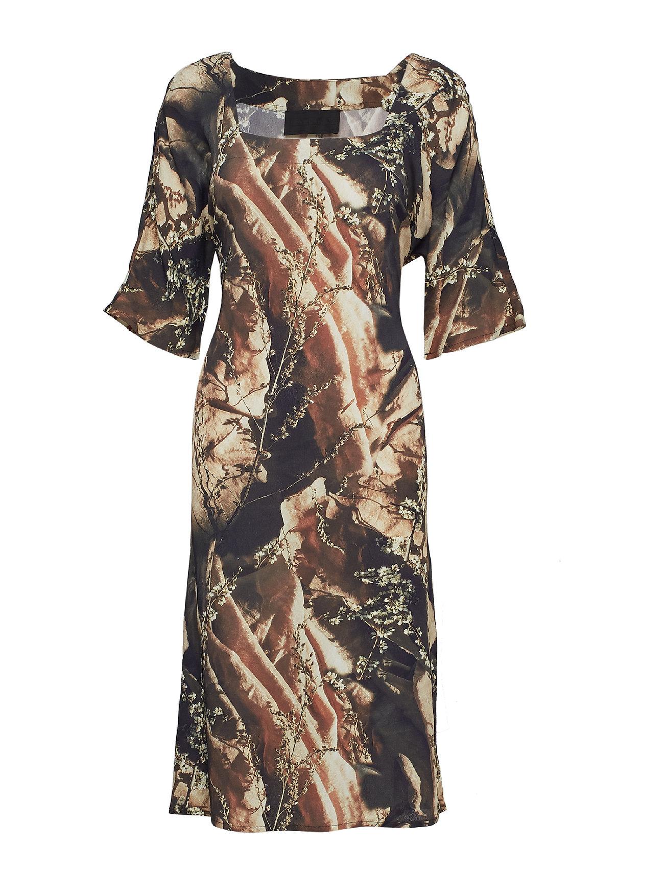 Diana Orving Square Neck Dress - FLOWERS