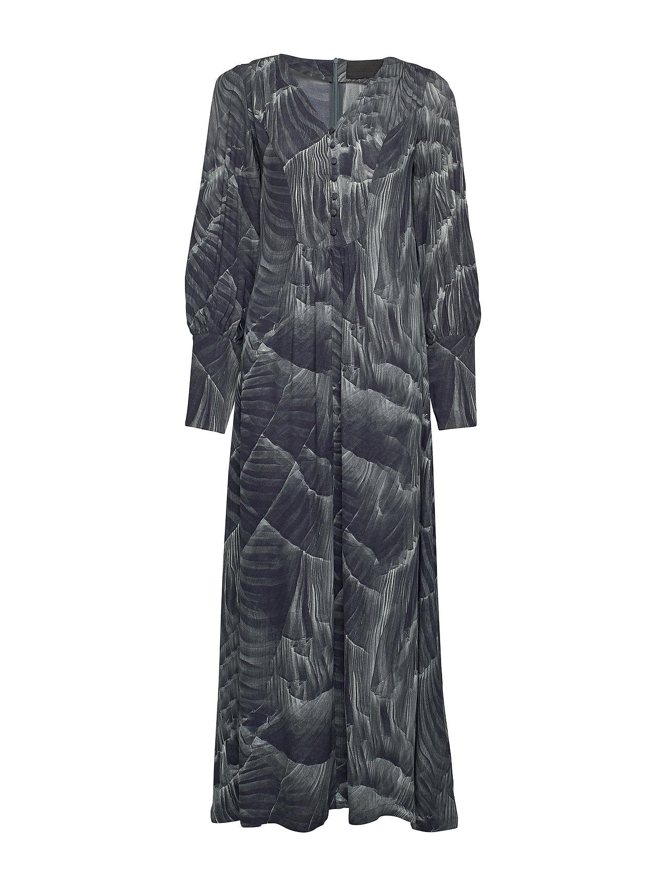 Diana Orving Maxi dress - PRINT PLEAT (GREY)
