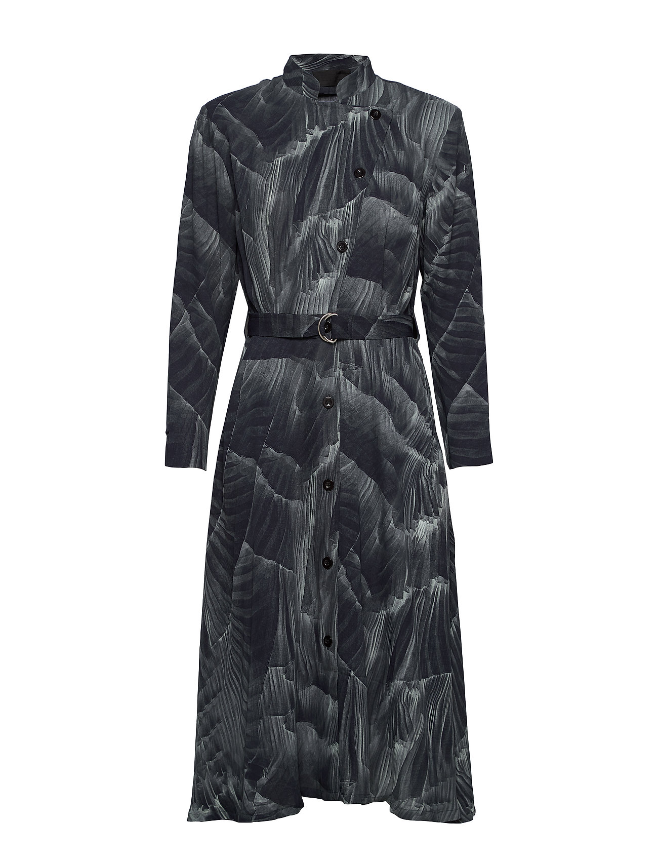 Diana Orving Robe dress - PRINT PLEAT (GREY)