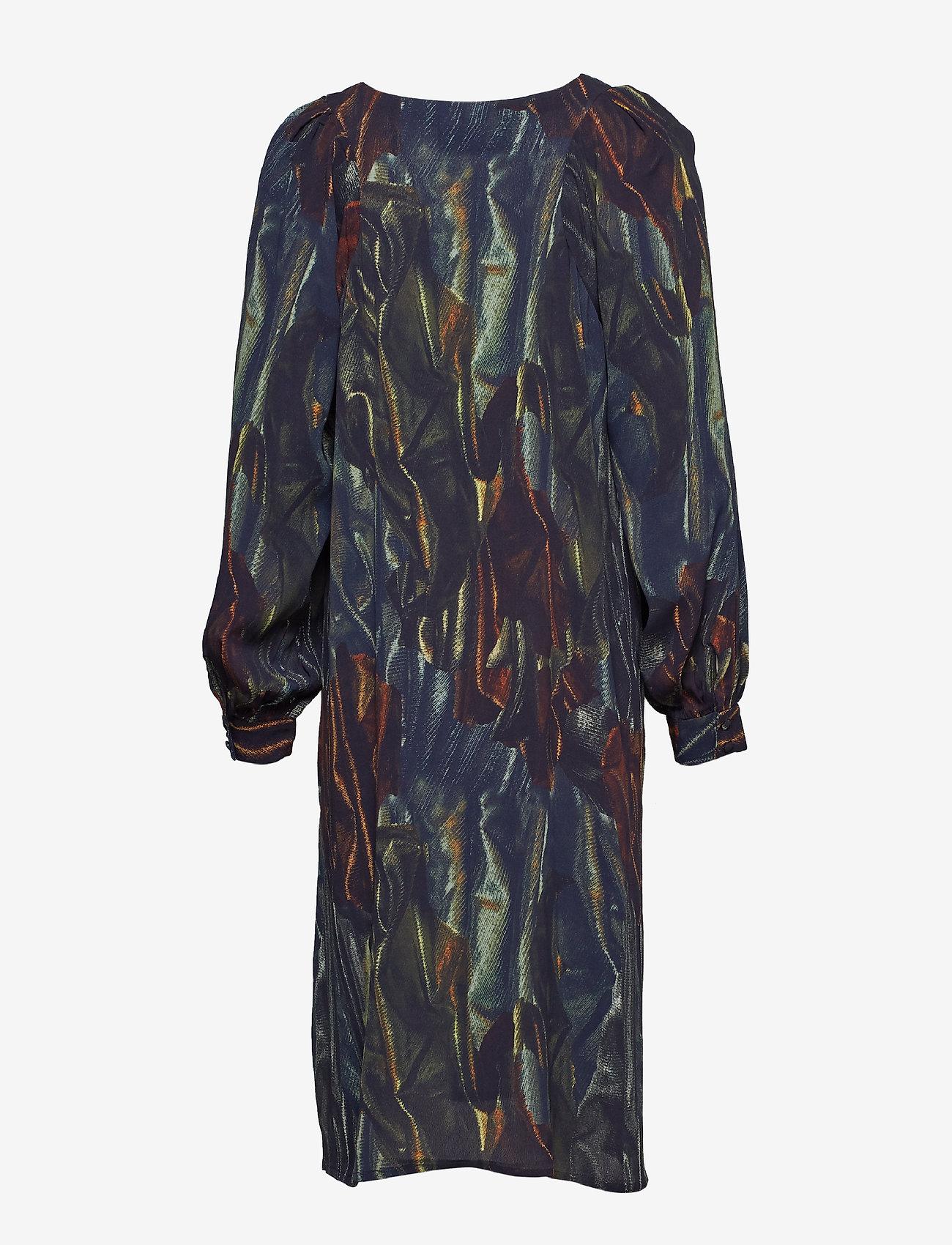 Diana Orving Folded Sleeve Dress - Klänningar Blue Gloss