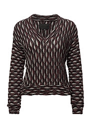 V-sweater - BORDEAUX