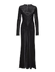 Long Bias dress - BLACK