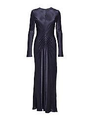 Long Bias dress - BLUE