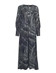 Maxi dress - PRINT PLEAT (GREY)
