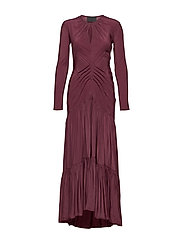 Level Bias dress - BORDEAUX