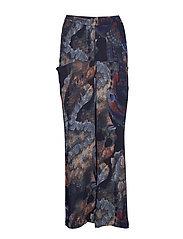 Pocket trousers - PRINT PAINT (BLUE)