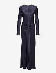 Diana Orving - Long Bias dress - maxi dresses - blue - 0