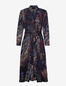 Robe dress - PRINT PAINT (BLUE)