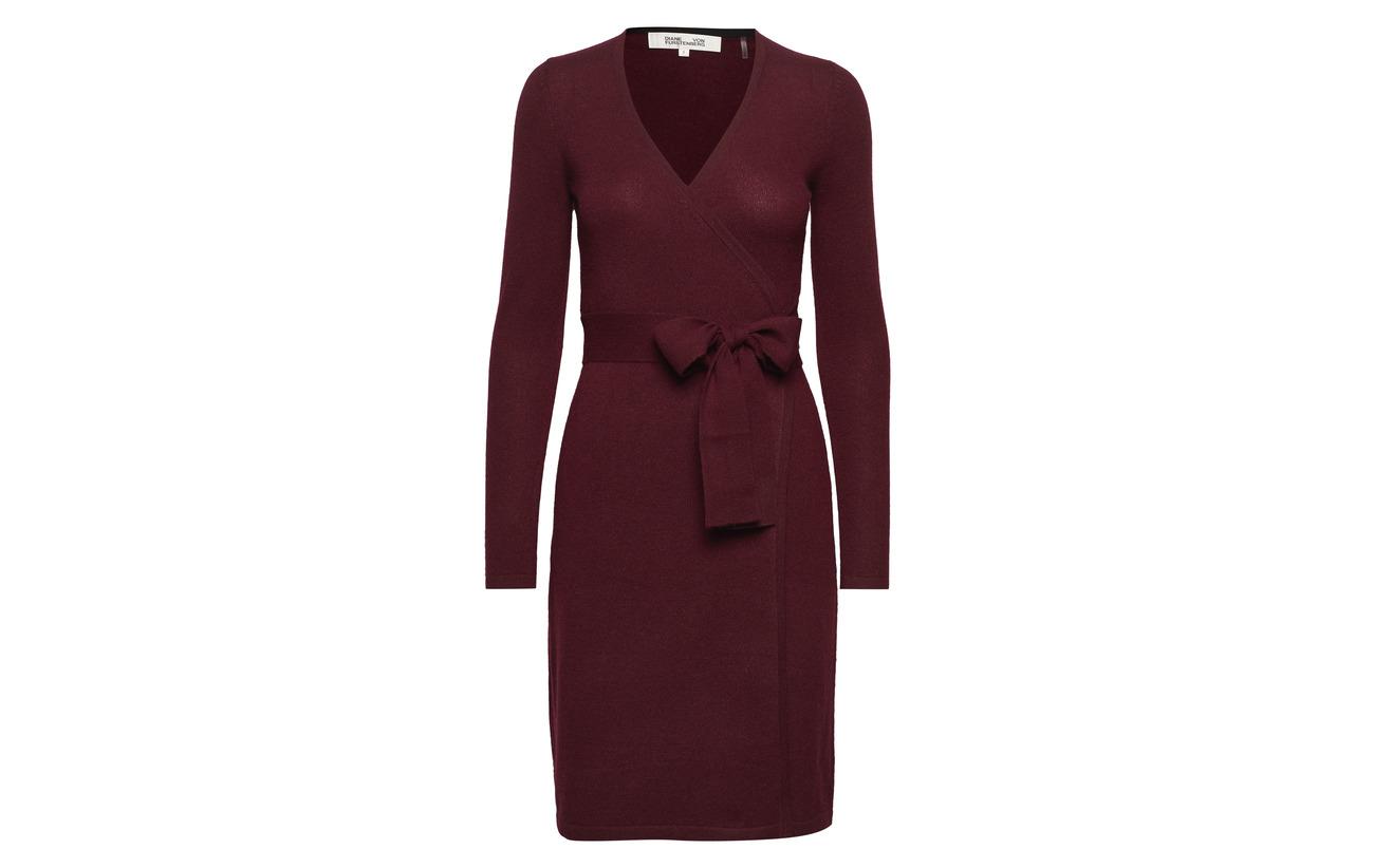 Melange Dress Charcoal Diane Cachemire Von New 100 Knit Wrap Furstenberg Linda w0Tn8PAxqY