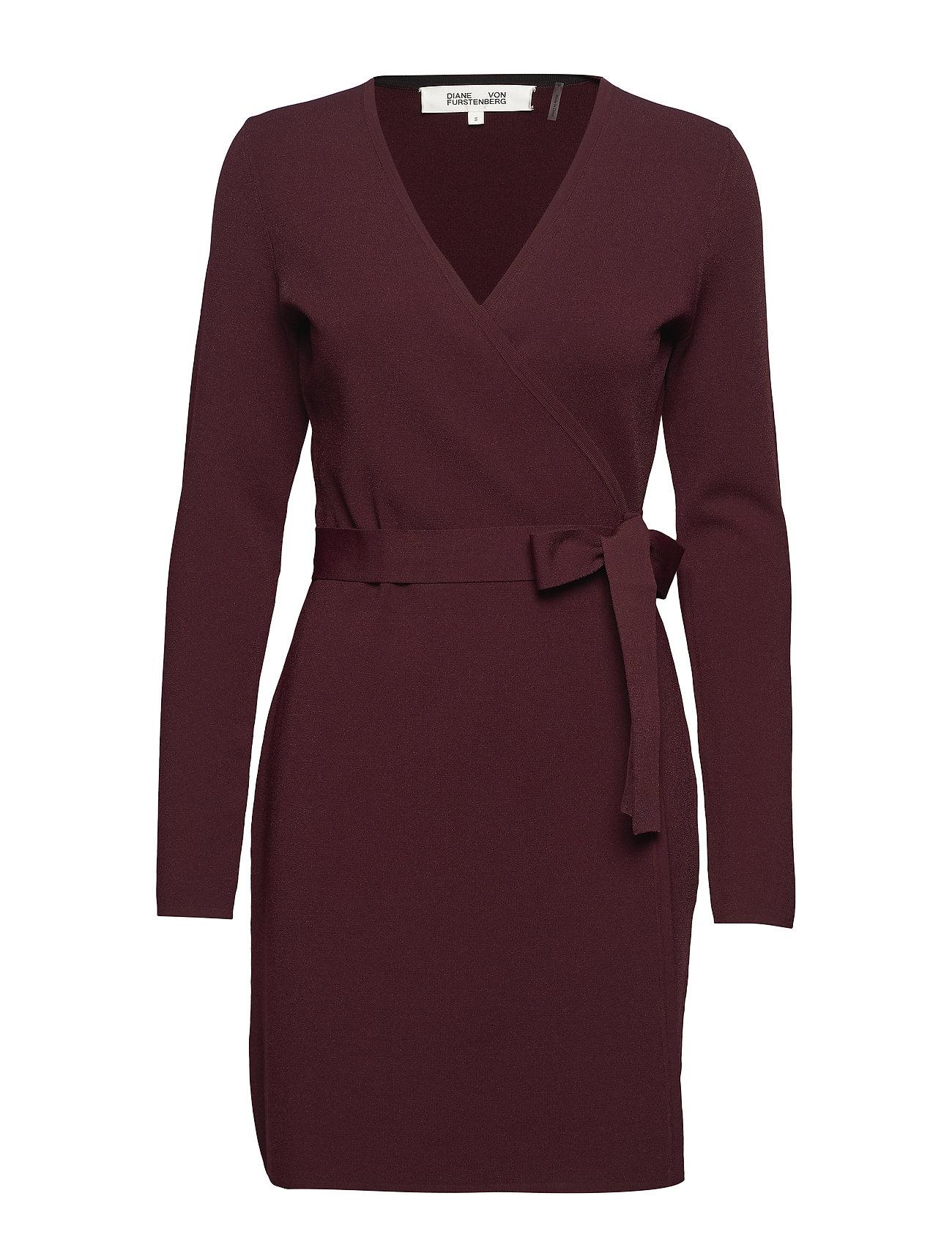 L s V-neck Knit Wrap Dress (Cabernet) (235.95 €) - Diane von ... 1055bb411