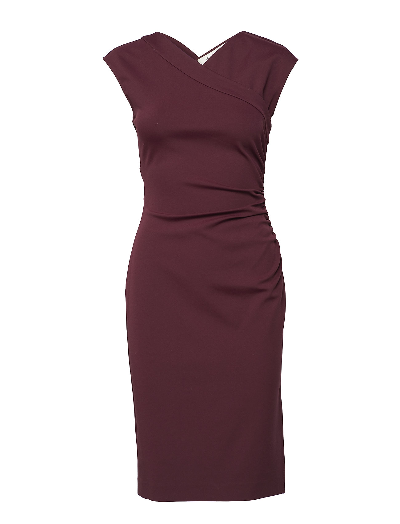 Image of Cap Slv Ruched Jersey Dress (3071142647)