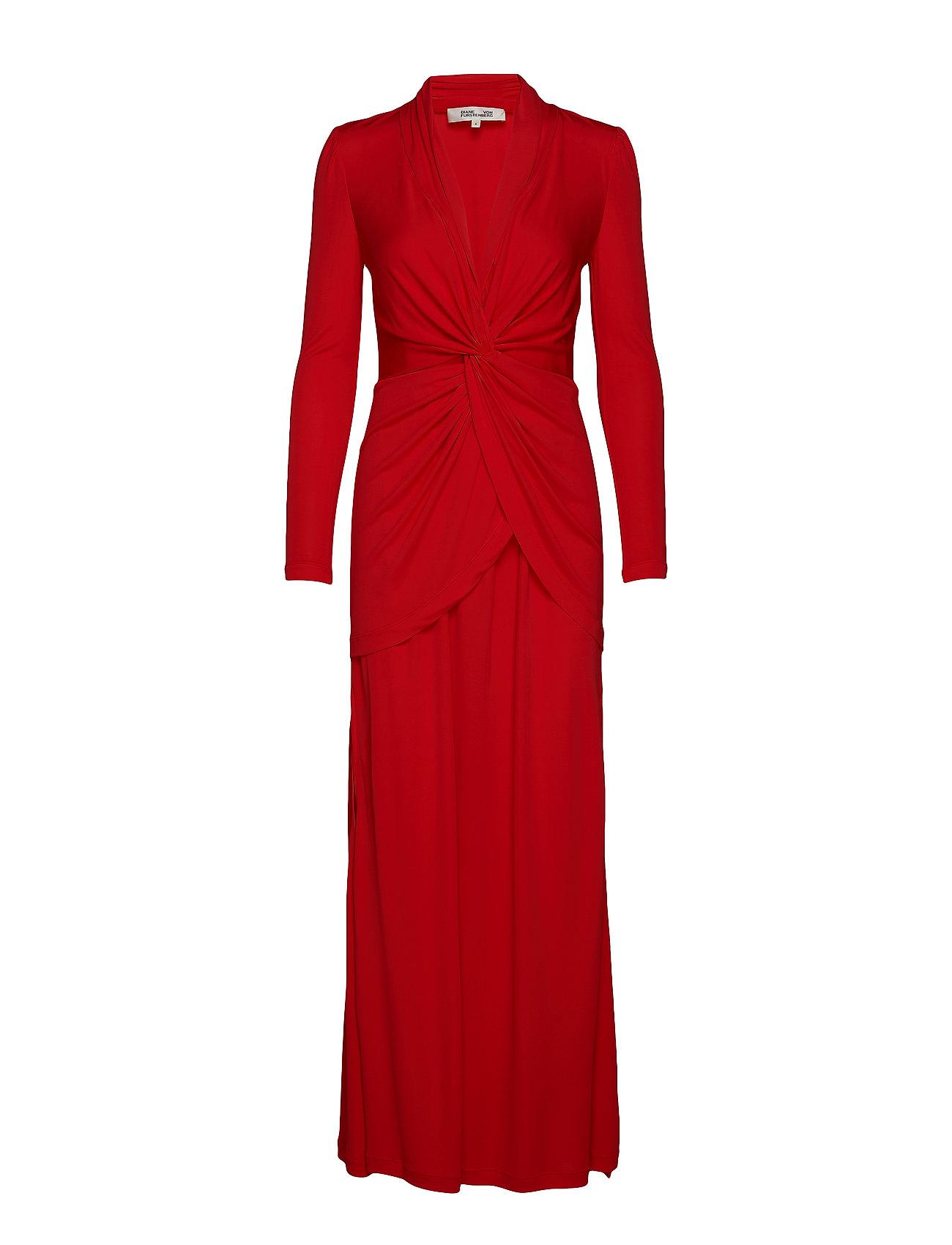 Diane von Furstenberg DVF STACIA GOWN - CANDY RED