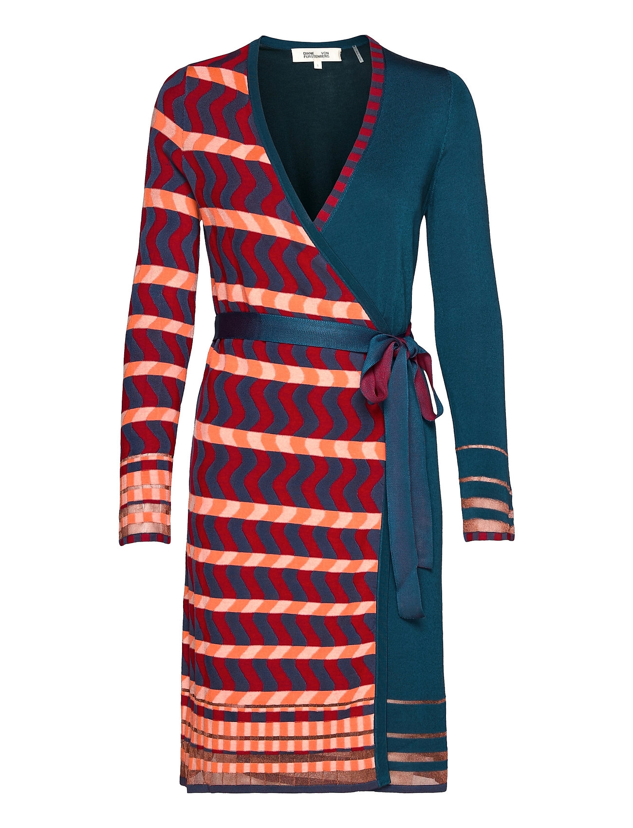 Dvf Ariana Dress Knælang Kjole Multi/mønstret Diane Von Furstenberg