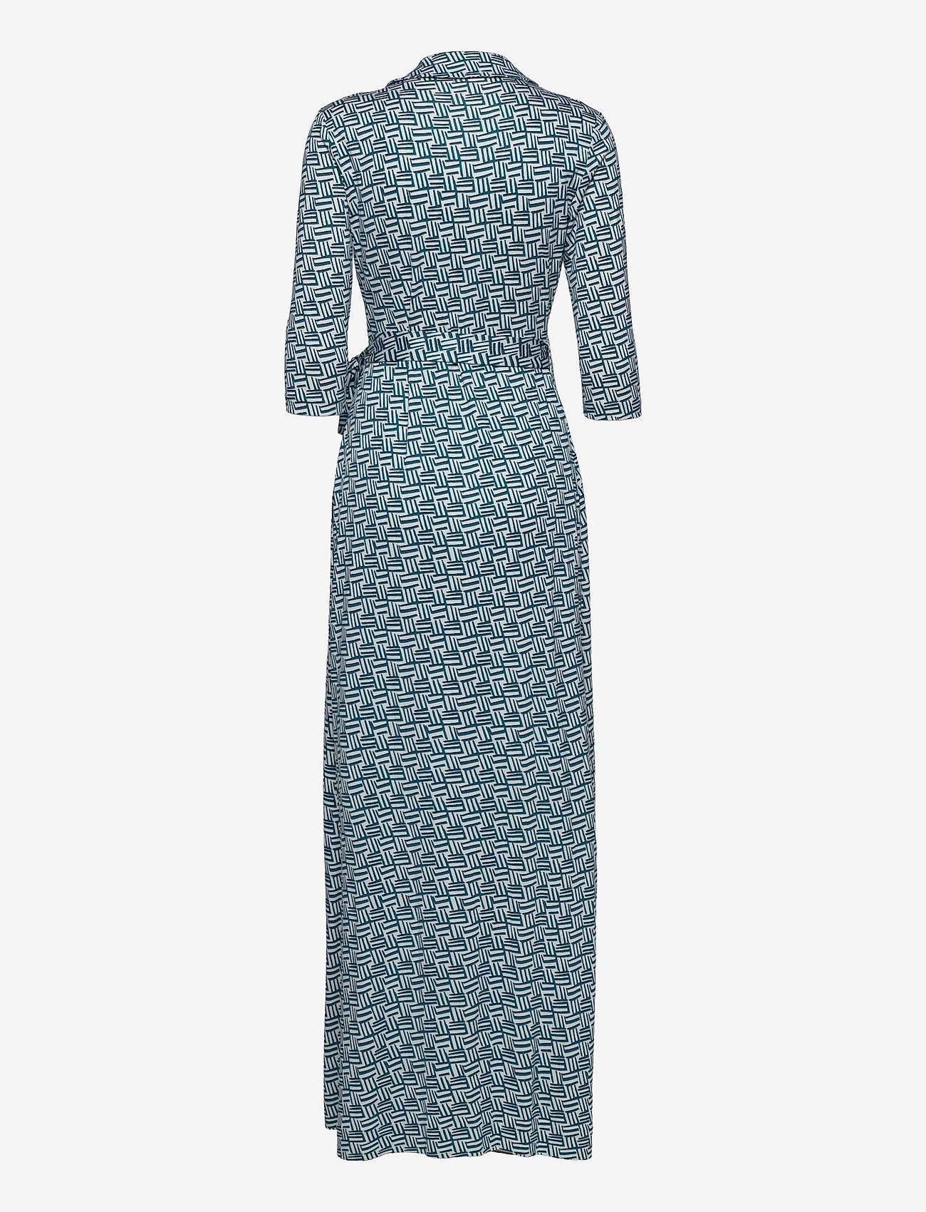 Diane von Furstenberg - DVF ABIGAIL - maxi dresses - printed geo turquoise - 1