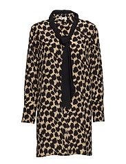 L/S SHIRT DRESS - HENLOW BIRCH/BLACK