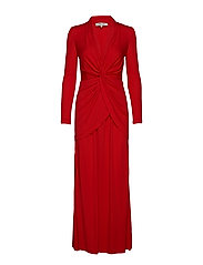 DVF STACIA GOWN - CANDY RED
