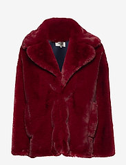 Diane von Furstenberg - L/S COLLARED JACKET - fausse fourrure - ruby - 0