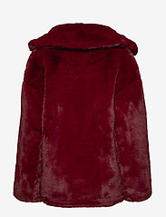 Diane von Furstenberg - L/S COLLARED JACKET - fausse fourrure - ruby - 1