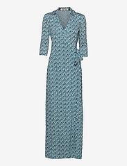 Diane von Furstenberg - DVF ABIGAIL - maxi dresses - printed geo turquoise - 0