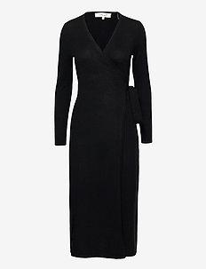 DVF ASTRID - slå-om-kjoler - black