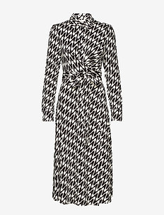 DVF SANA - EMPIRE HOUNDSTOOTH IVORY
