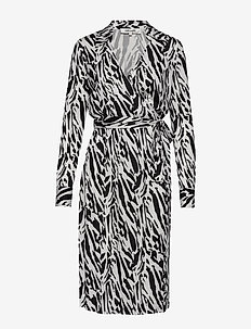 DVF POWER - wrap dresses - tiger twigs small black