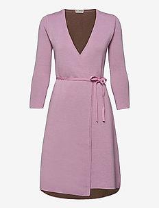 MYLENE - wrap dresses - fragola/camel