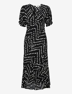 DVF ORLA DRESS - hverdagskjoler - herringbone black