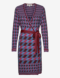 DVF EILEEN - cocktail-mekot - wine blue tartan