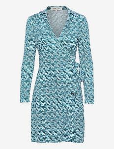 NEW JEANNE TWO - alledaagse jurken - printed geo turquoise