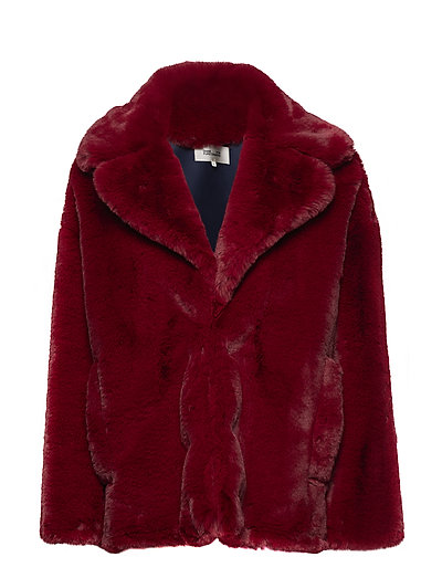 L/S COLLARED JACKET - RUBY