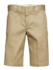 Slim Straight Work Short - KHAKI