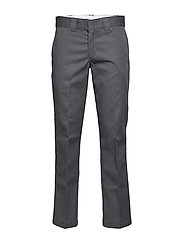 Slim Straight Work Pant - CHARCOAL GREY