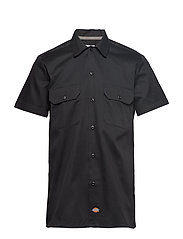 Short Sleeve Slim Shirt - BLACK