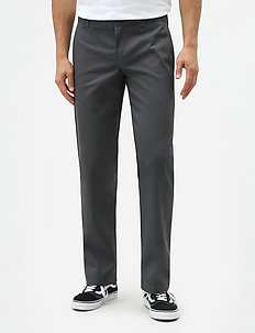 SLIM STRAIGHT WORK PANT - chinos - charcoal grey