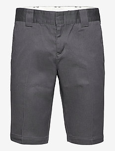 SLIM FIT SHORT - tailored shorts - charcoal grey