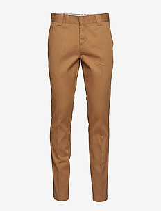 SLIM FIT WORK PANT - chinos - brown duck