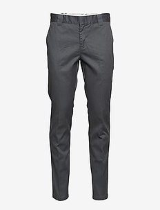 SLIM FIT WORK PNT CHOCOLATE BROW, 33, 32 - chinos - charcoal grey
