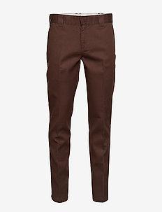 Slim Fit Work Pant - CHOCOLATE BROWN