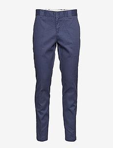SLIM FIT WORK PNT CHOCOLATE BROW, 33, 32 - chinos - navy blue