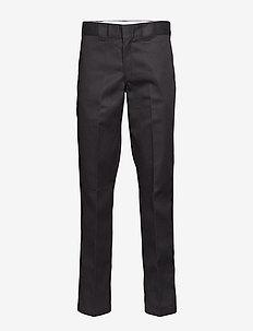 Slim Straight Work Pant - BLACK