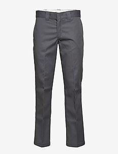 Slim Straight Work Pant - CHARCOAL GREY