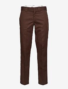 Slim Straight Work Pant - CHOCOLATE BROWN