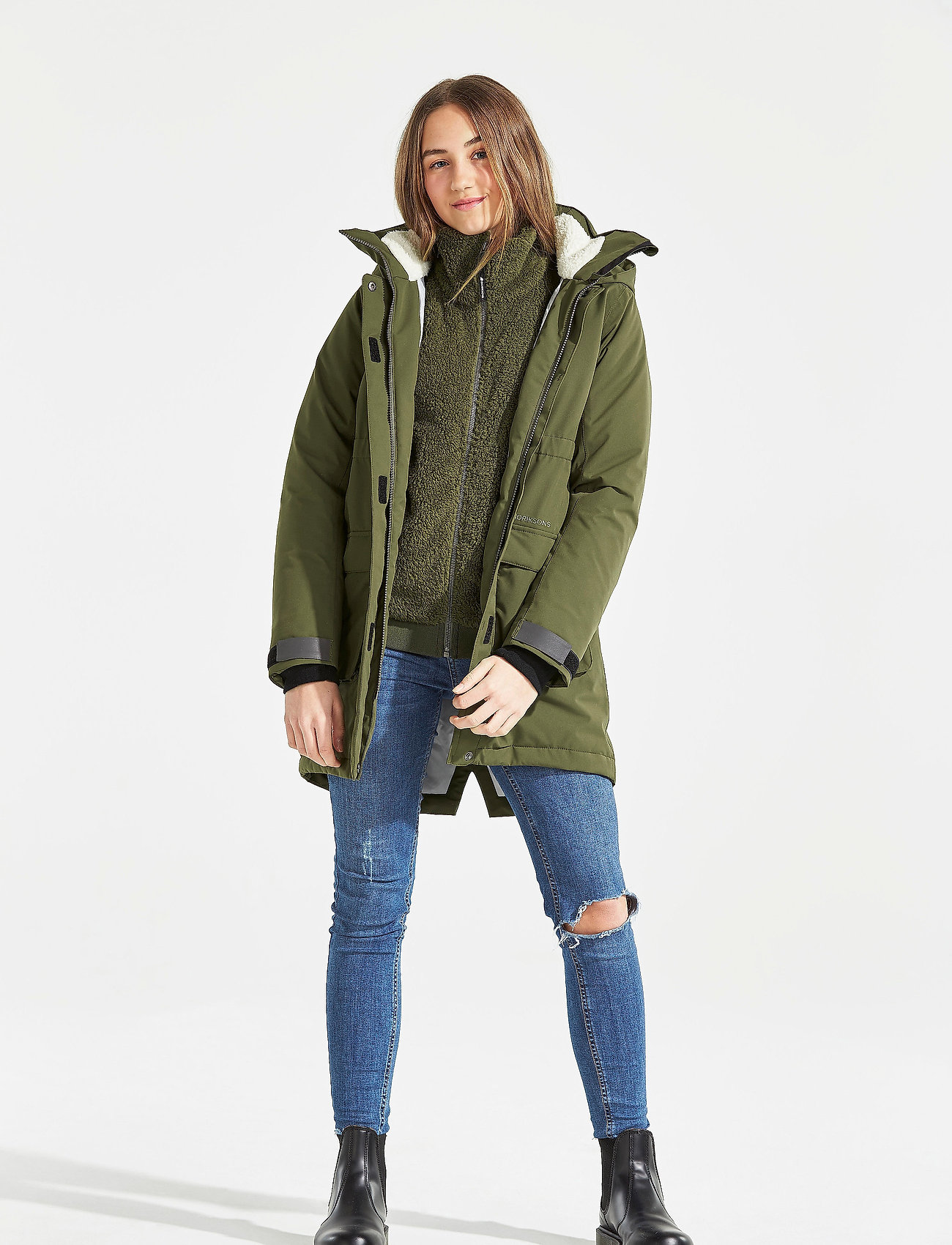 Didriksons - RONNE GS YT PARKA - puffer & padded - peat - 0