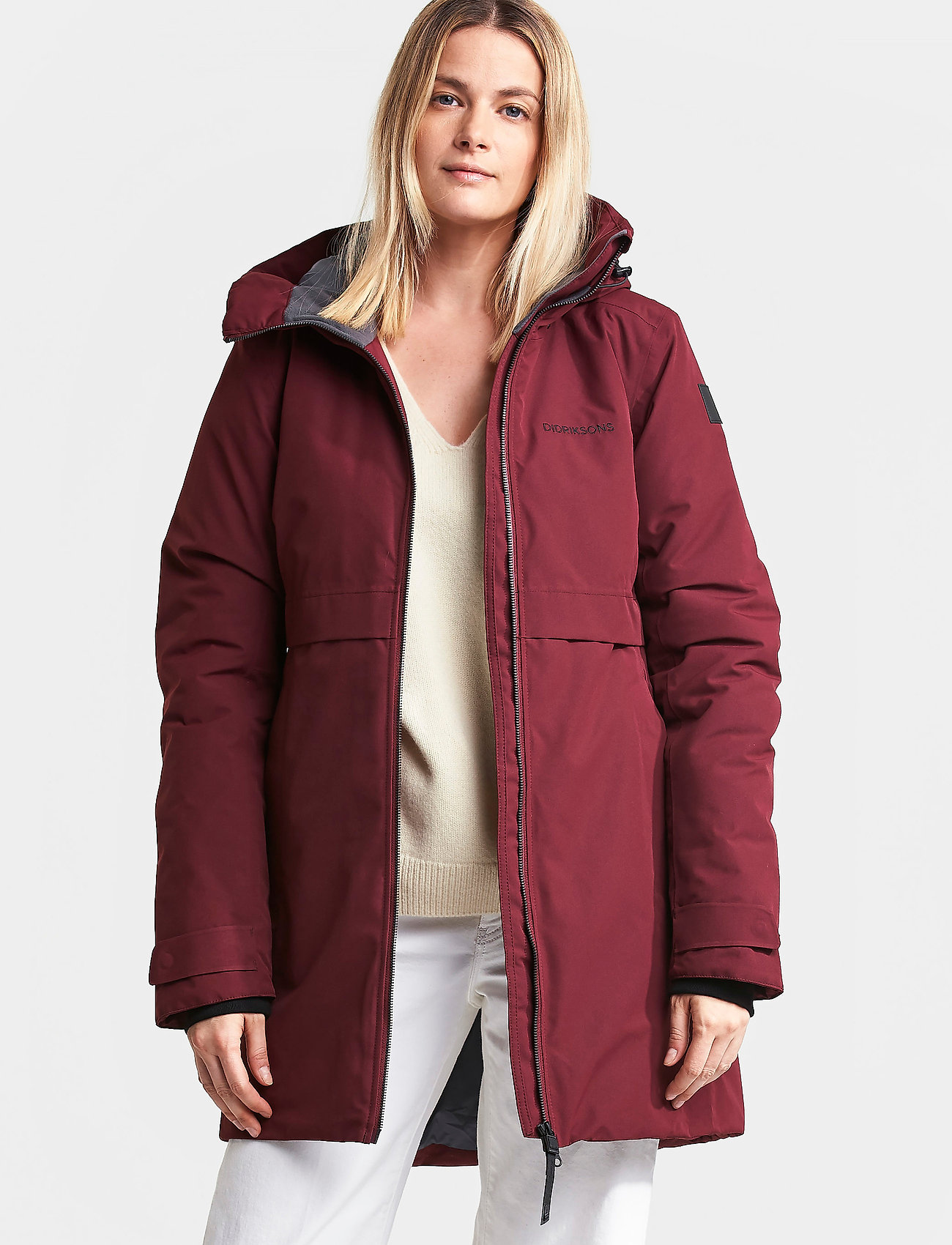 Didriksons - HELLE WNS PARKA 2 - parkasjackor - anemon red - 0
